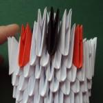 Farokrész 1-2 sora: 4 fehérrel kezdünk, majd:1 fehér- 1 fekete- 1fehér elemet használunk fel